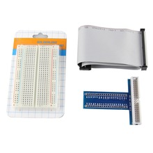 Raspberry Pi Model B+ T Cobbler, Expansion DIY Kit (40P Cable + Breadboard + GPIO Expansion Board)