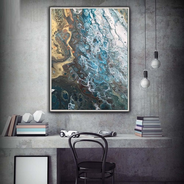 Groovy Us 5 35 49 Off Giclee Prints Art Abstract Painting Coastal Home Decor Modern Canvas Prints Gift Wall Decor Large Sizes Beach House Art Canvas In Download Free Architecture Designs Embacsunscenecom