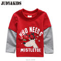 T-Shirts For Boys Girls Deer Animal Print Sweatshirt Clothes Children's Sweaters Raglan Tops Teen Children Blouse Kids Tees Bobo