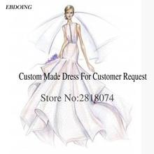 EBDOING 2018 Custom Made Link For Wedding Dress Fee Contact