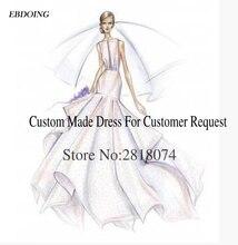 EBDOING Nach Maß Link Für Hochzeit Kleid Anpassen Gebühr Kontaktieren Sie Uns Vor Dem Kauf