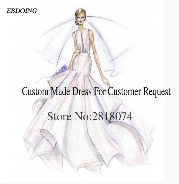 웨딩 드레스에 대한 EBDOING 맞춤 제작 링크 사용자 정의 수수료 구매 전에 문의