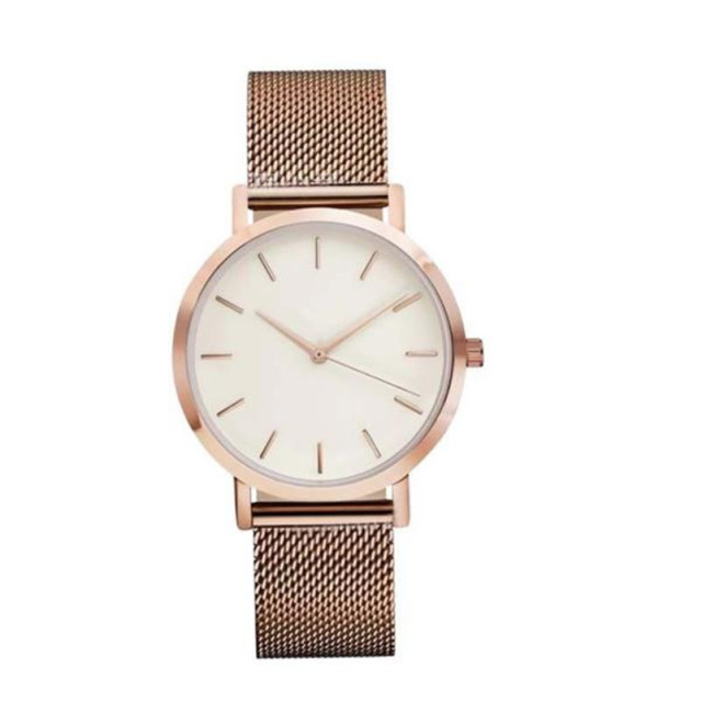2018 Luxury Brand Quartz Bracelet Watch Women Men Classic Stainless Steel Strap