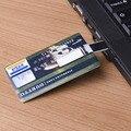 Impermeable u disco tarjeta de memoria flash 32 GB/16 GB/8 GB Banco Tarjeta de Crédito de Forma USB Flash Drive Pen Drive tarjeta de Memoria Flash de billetes