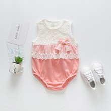 Summer New Lace Baby Jumpsuit Soft Breathable Cotton Siamese Clothing