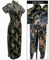 Hot Sale Black Women's Long Cheongsam Vestido mujer Female Traditional Qipao Dress Plus Size S M L XL XXL XXXL 4XL 5XL 6XL J3095