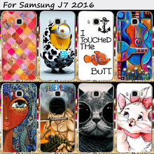 Mobile Phone Bags and Cases For Samsung Galaxy J7 (2016) J710 J710F J710H J7108 Cases New Fashion Cartoon Skin Phone Cover