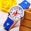 2016 Hot Venta de Moda Reloj Lindo de la Historieta Relojes Niños Relojes De Goma Reloj de Cuarzo Ocasional Regalo Niños Horas relogio reloj montre