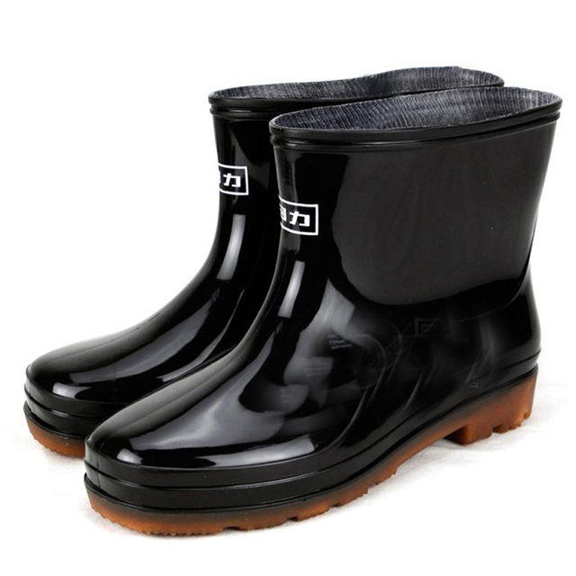 2016 Fashion High Grade Men Rainboots Summer & Autumn rain boots water shoes Non-slip waterproof mens overshoes rubber shoes