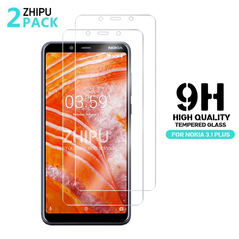 2 Pcs/Lot Tempered Glass For Nokia 3.1 Plus Glass Screen Protector 2.5D 9H Tempered Glass For Nokia 3.1 Plus Protective Film