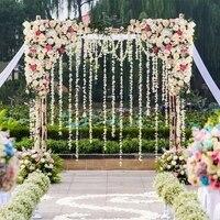 Розовый искусственный пионовидные розы с травой зеленый Свадебный цветок фон Элегантные Свадебные цветок стены арки двери вечерние украше
