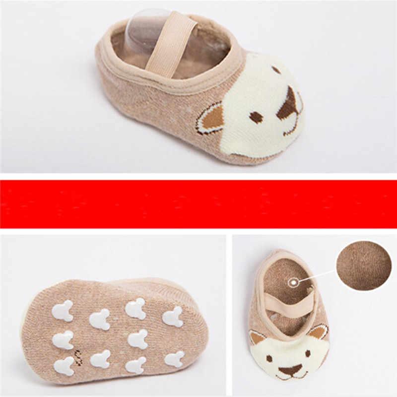 PUDCOCO 1 pares niño calcetín zapato suave bebé no-zapatilla deslizante antideslizante infantil niña Niño