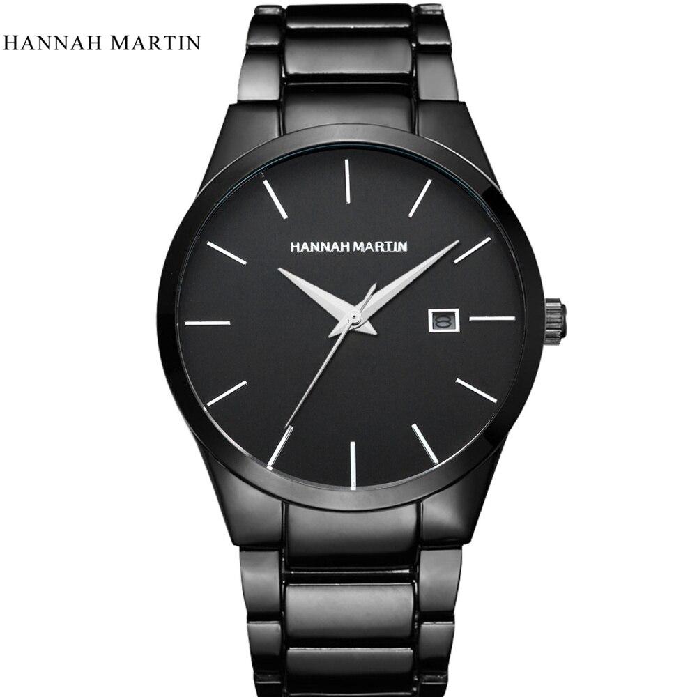 Hannah Martin Watch Men Top Brand Luxury Sport Watch Full Steel Auto Date Watches Men's Watch Clock Erkek Kol Saati Reloj Hombre