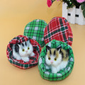 Super cute artificial fuzzy cat toy,kat in bed,cute kittens pussy cat,no mess,sweet doll baby sleeping cat gift for child girls