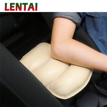LENTAI Car Auto Armrests Cover Arm Rest Seat Box Soft PU Mat For BMW E39 E90 E60 E36 F30 F10 E34 E30 Mini Cooper Audi A4 B8 A3 image