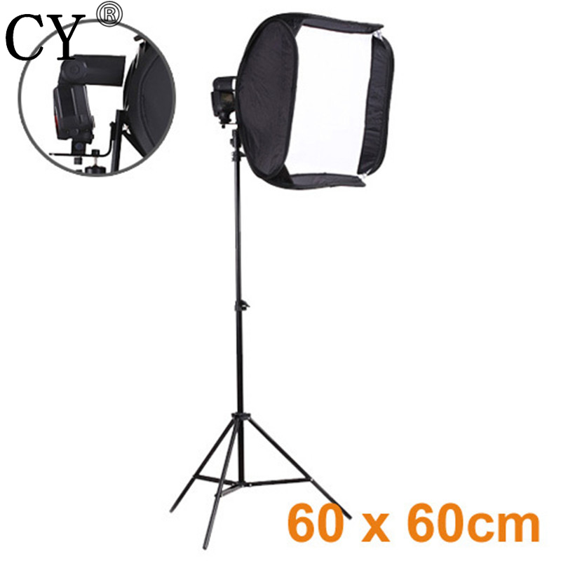 CY Pro High Quality Photography Studio Kits 24/60cm Easy Portable Softbox for Speedlite with Light Stand Photo Studio Kit