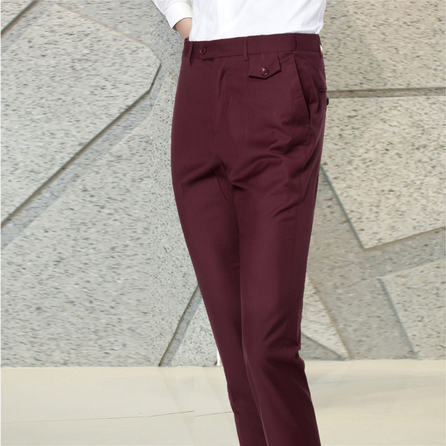 XMY3DWX fashion men Pure color business Suit pants/Male high-end High quality leisure trousers/Men casual pants 3