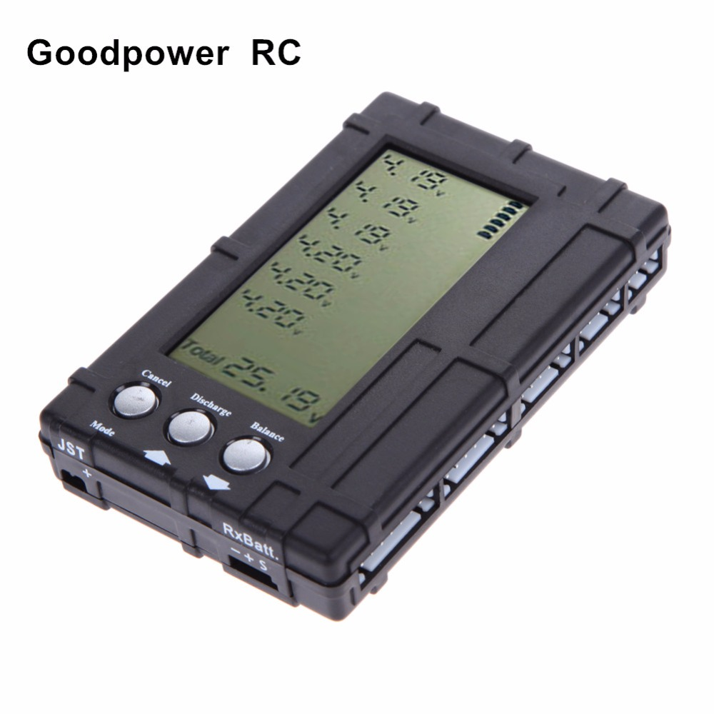 3 In 1 LCD RC Battery Discharger Balancer Meter Tester For 2-6S Lipo Li-Fe Battery Battery Voltage Meter