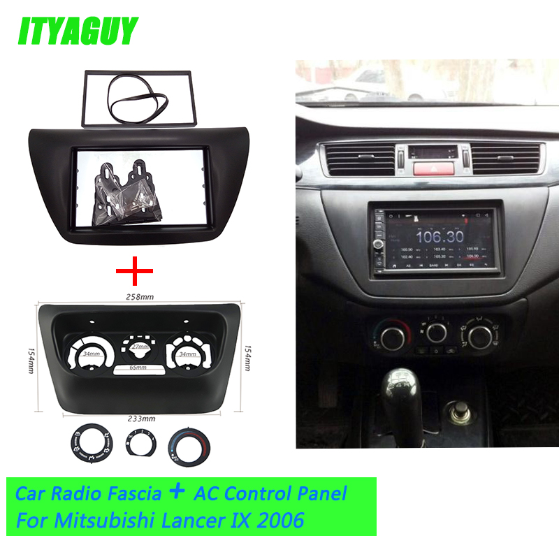 2pcs Lot Ac Control Accessories Panel Car Radio Fascia For Mitsubishi Lancer Ix 2006 Center