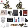 Kit de Tatuaje profesional Completa 2 Top Machine Gun 50 mezcla de taza de la tinta 10 Agujas fuente de Alimentación 3000246-10