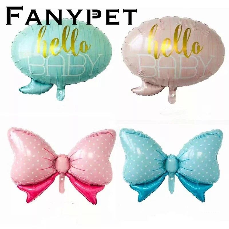 50 sztuk hello dziecko motyl balony na brzuszkowe wózek dla dziecka balon foliowy zabawki dla dzieci dla noworodka strona dekoracji balony dekoracyjne