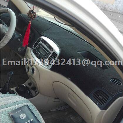 Voiture dashmats voiture-style accessoires de couverture de tableau de bord pour Hyundai Accent Ère Brio Avega Verna 2005 2006 2007 2008 2009 2010 2011