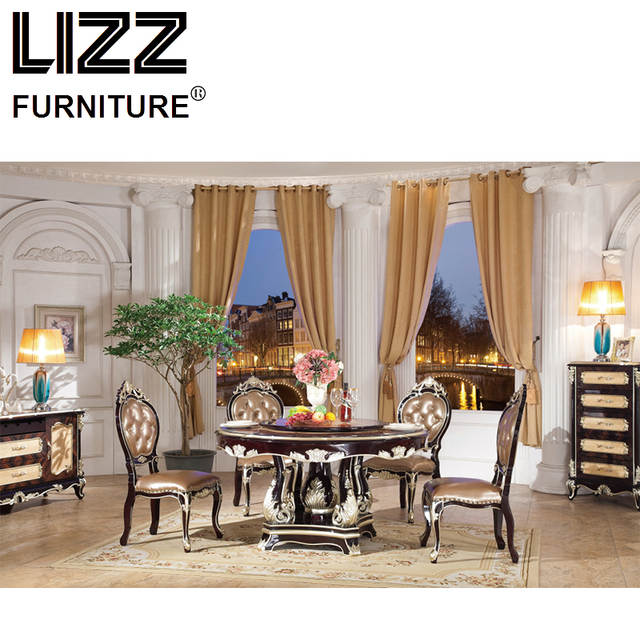 Online Shop Marble Dining Table Dining Room Furniture Set Royal