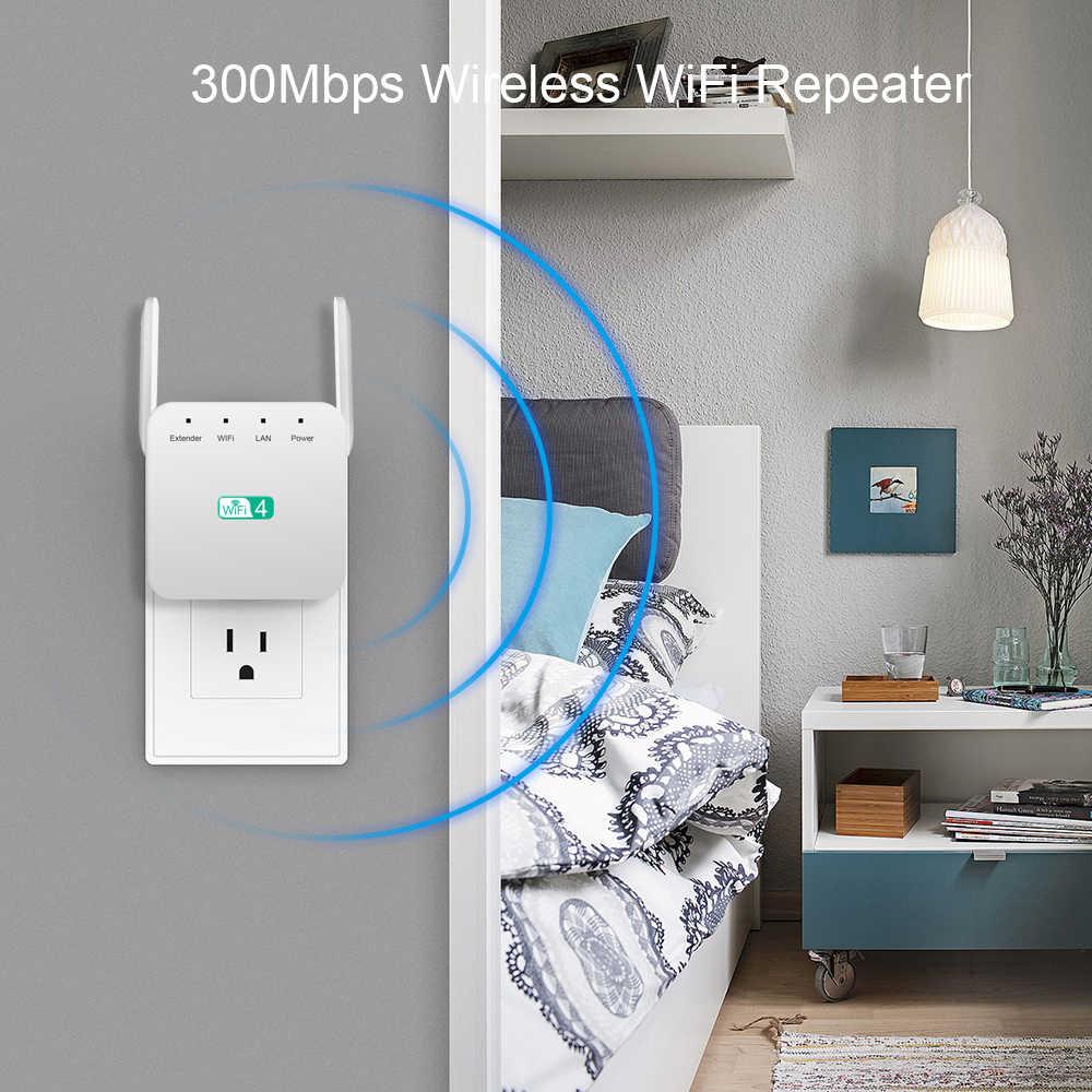 Kebidumi extensor WiFi inalámbrico 300Mbps amplificador WiFi amplificador Wi-Fi extensor de largo alcance WiFi repetidor 802.11N