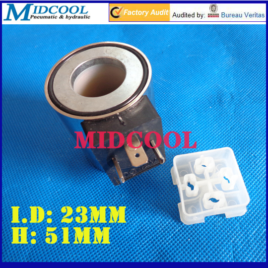 Rexroth type directional valve solenoid coil inside diameter 23mm high 51mm 3 plug 220V AC DC 24V coffee cjh34h100s dc 24v directional motor 1001 dj27