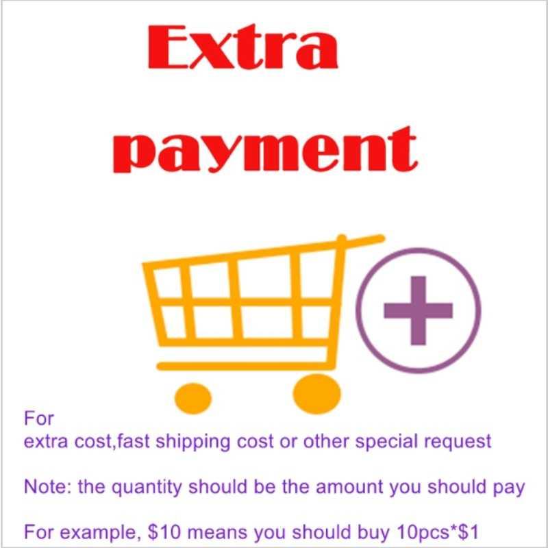 תשלום נוסף עבור עלות נוספת, עלות משלוח מהירה או בקשה מיוחדת אחרת