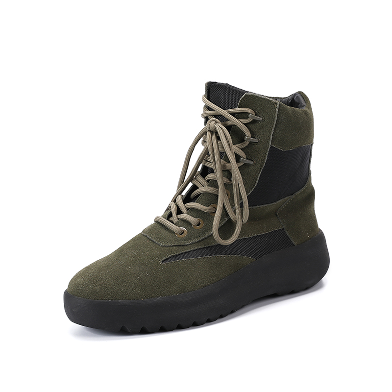 New arrival High Street Fashion shoe Nubuke Leaher Shoes Thick Boots Leisure Personality Hiking Boots