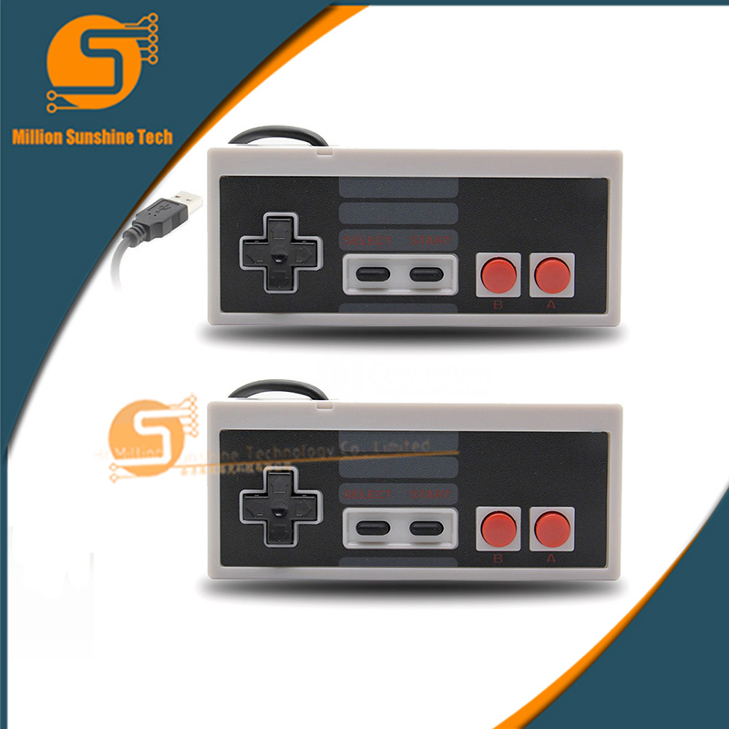 2PCS 1 lot Retro Wired Super for SNES USB Controller Gaming Joypad Joystick for PC Window 7/8/10 Gamepad For Mac