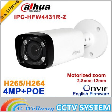 Original Dahua H.265 IPC-HFW4431R-Z 2.8-12mm Varifocal Motorized Lens Network 4MP IR 80M IP camera POE Digital Camera HFW4431R-Z dahua 4mp poe cctv camera ipc hfw4431r z 2 8 12mm varifocal motorized lens english firmware ir network ip bullet camera