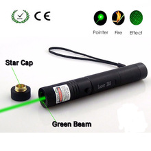 Hunting lazer Green Laser Pointer Pen Adjustablefocus Starry Head Burning Pen Powerful Laser Pointers Presenter Remote 303 knorvay wireless remote control page turning green laser pointers presentation presenter pen 532nm lazer