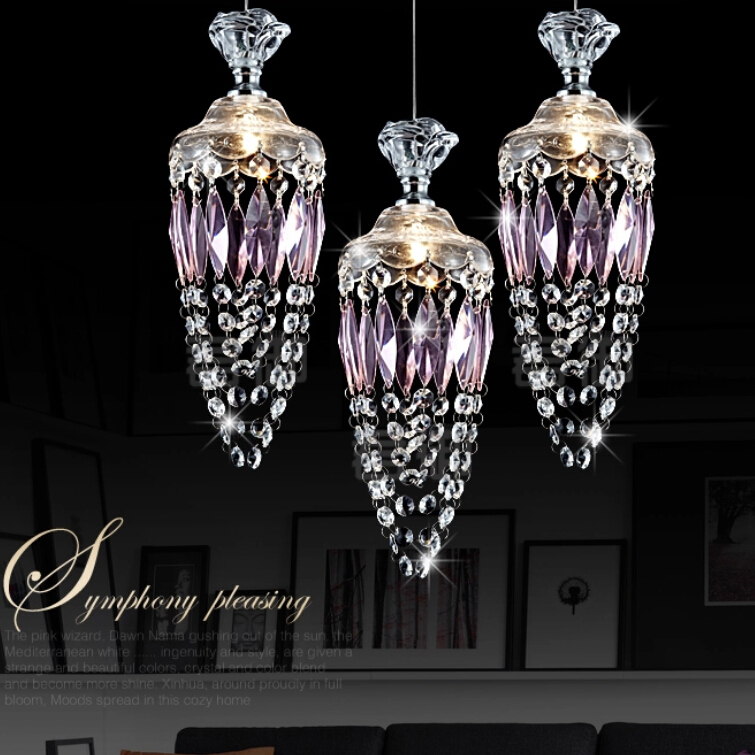 1/3 heads crystal pendant lamp dining room droplight originality bar individuality table lanterns pendant lights ZA72612 edison inustrial loft vintage amber glass basin pendant lights lamp for cafe bar hall bedroom club dining room droplight decor