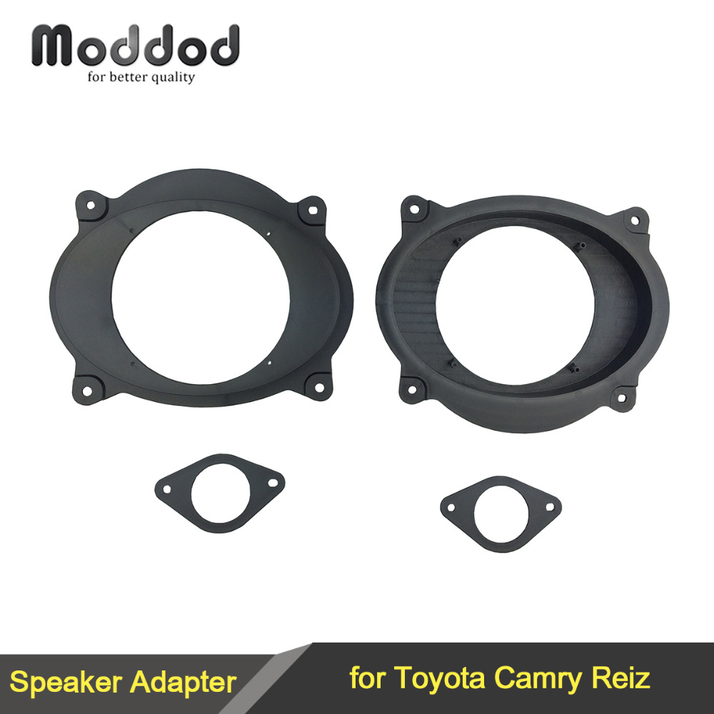 For Toyota Camry / Reiz 2006-2011 Car Stereo Door 6.5 Inch Speaker Install Mount Adapter Plates Brackets Stand Cover Rings