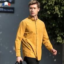 Langmeng 100% Baumwolle Marke 2016 Neue Mode Lässig Männer Shirt long Sleeve Slim Fit Herren Hemden Männliche Kleidung chemise homme