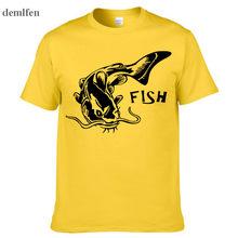 Marchio di Abbigliamento Nuovo Pesce Stampa T Shirt Uomo Estate T-Shirt  Maschio Maglietta Casuale 3de156cc891