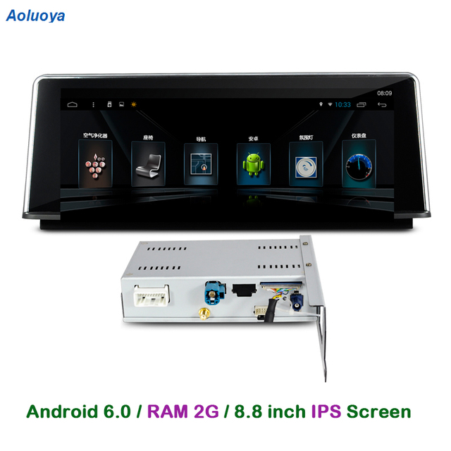 Aoluoya RAM 2GB Android 6.0 Car Radio DVD GPS For BMW 1 Series F20 2011-2014 3 Series F30 2012-2016  4 Series F32 / F33 2013–