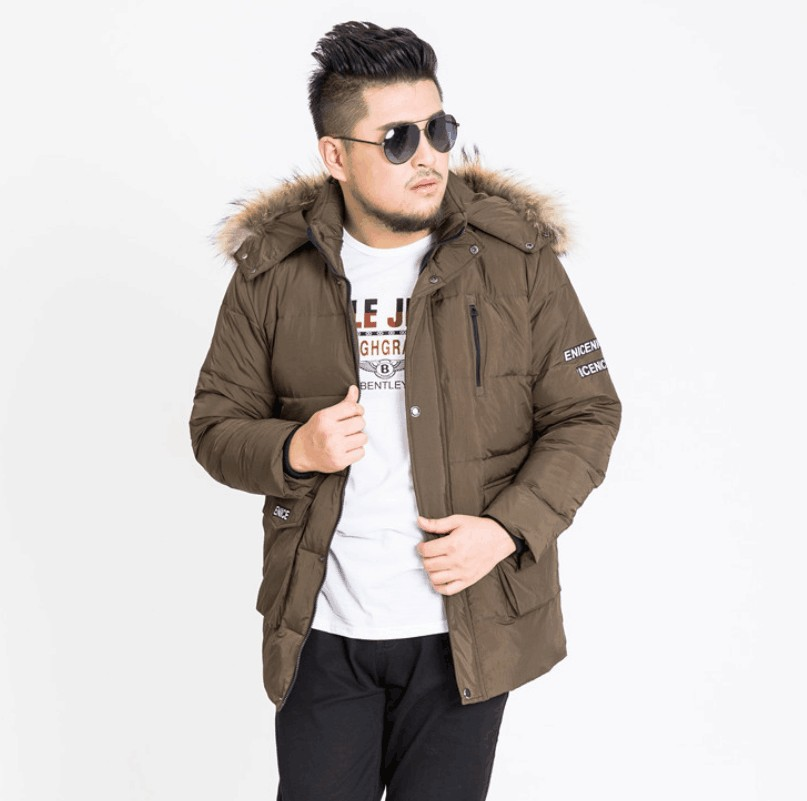 2017 Neue Ankunft Winter Pelzkragen Männlichen Daunenmantel Jacke Hohe Qualität Fettleibig Mit Kapuze Beiläufige Art Und Weise Plus Größe Xl-11xl12xl13xl
