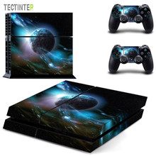 Galaxy Stars Vinyl Stickers Voor Sony Playstation 4 Console & 2 Controller Skin Voor PS4 Stickers Cover