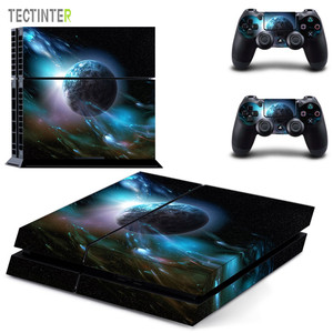 Image 1 - Galaxy Stars Vinyl Stickers Voor Sony Playstation 4 Console & 2 Controller Skin Voor PS4 Stickers Cover
