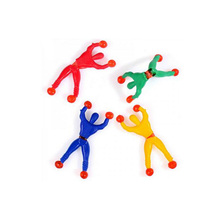 5pcs lot Free shipping climbing spider man sticky climbing wall Superman nostalgic toys for children kids