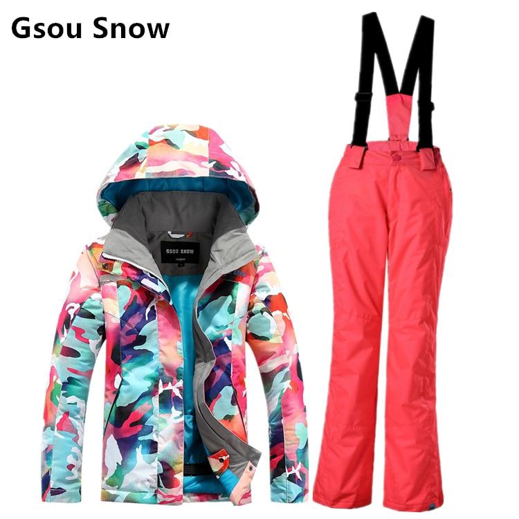 Gsou neige combinaison de ski enfant de fille