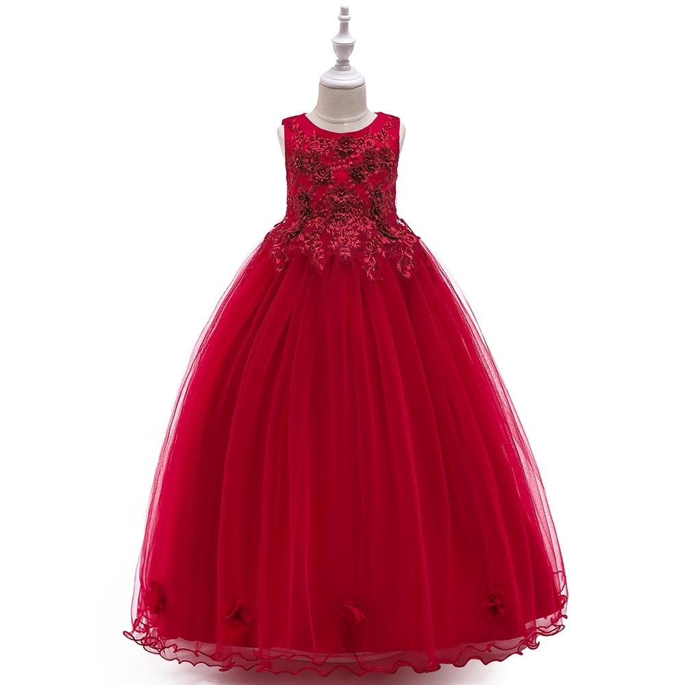 Flower     Girl     Dresses   Holy Communion   Dress   Red Blue Tulle Vestidos Pageant   Dresses   For Little   Girls   Ball Gown 2-14Y