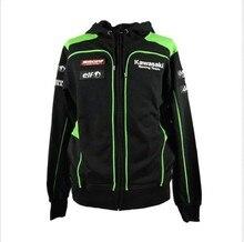 2017 Brand New Jackets Men's Clothing 100% Cotton Kawasaki Team Hoodies MotoGP Sweatshirts Motorcycle Casual Winter Sports Coats