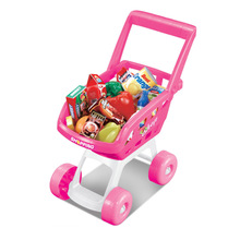 Kids Mini Shopping Cart Pretend Shopping Groceries Educational Toy Children Simulation Play House Baby Supermarket Trolley Fruit supermarket cart simulation shopping trolley with fruits and vegetables toys for kids