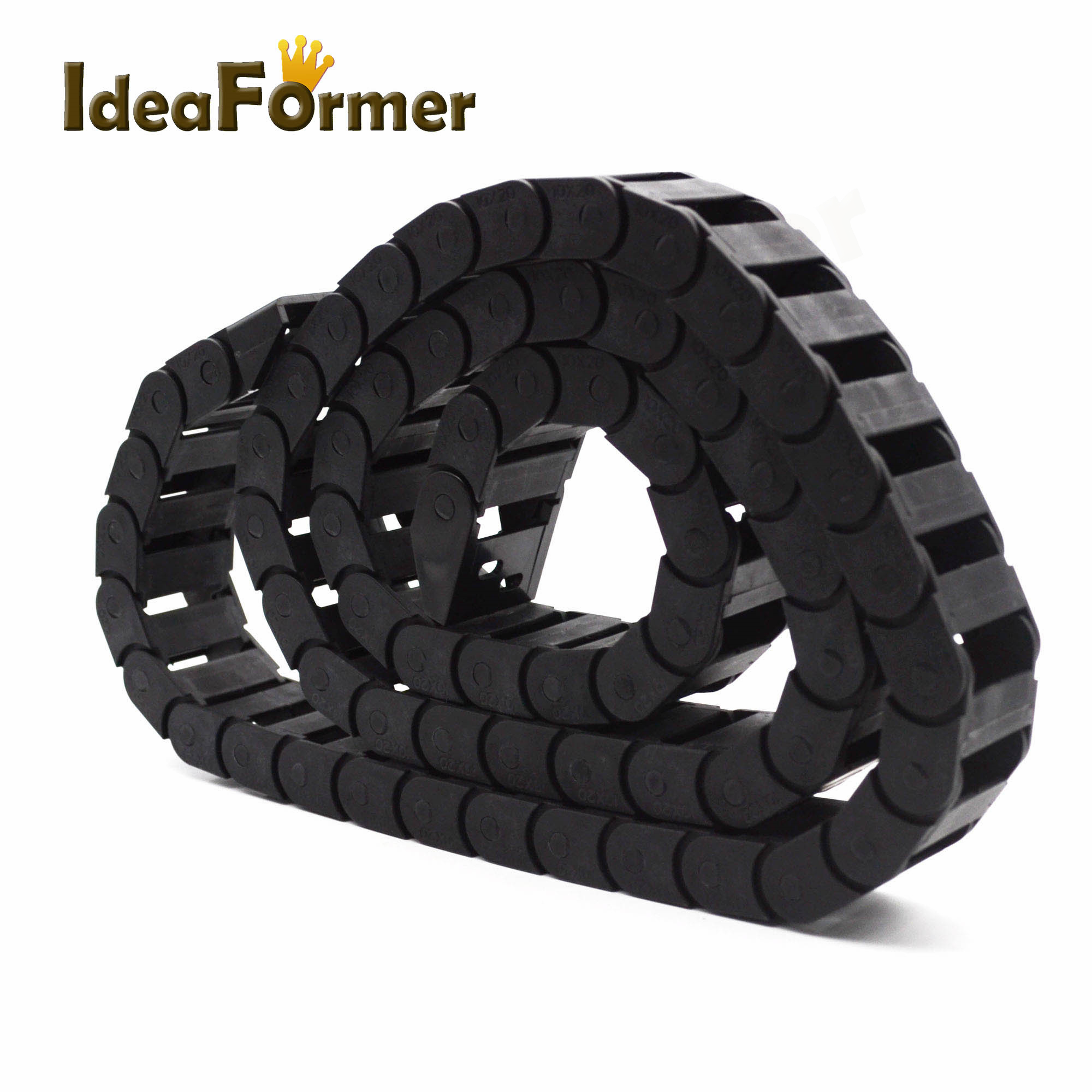 1 Meter Plastic Towline 7x 7mm 10X 10/20/30mm Semi Enclosed Hot Cable Drag Chains For CNC Router Machine Tools 3D Printer Parts.