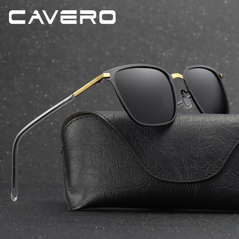 Blagovna znamka CAVERO Polarizirana moška kvadratna vintage sončna - Oblačilni dodatki