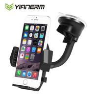 Yianerm Universal Long Arm 2 Lever Sucker Phone Holder Windshield Dashboard Car Mount For IPhone 5s